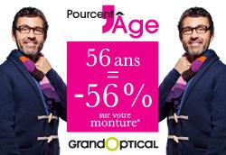 Votre âge = votre pourcentage de réduction (plafond max 70%) ex: 30 ans, 30% de réduction
