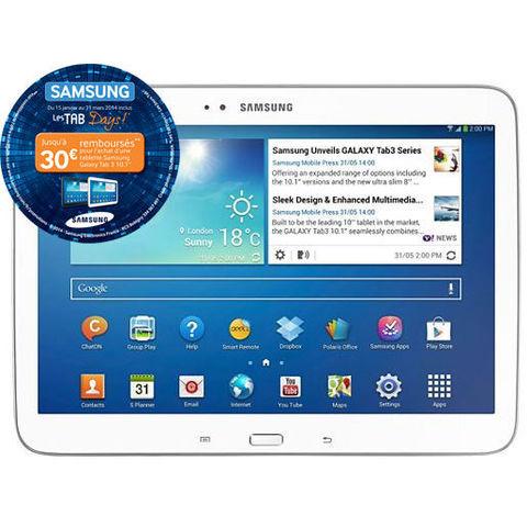 Tablette Samsung Galaxy Tab3 10.1 (P5210) (Avec ODR de 30€)