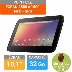 """Tablette 10,1"""" Google Nexus 10 - 32Go (+ remise 10e si premier paiement Buyster)"""