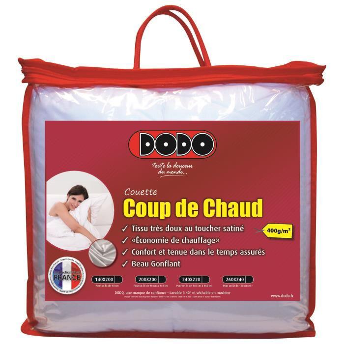 Couette Dodo Coup de chaud 220x240cm, 400g/m²