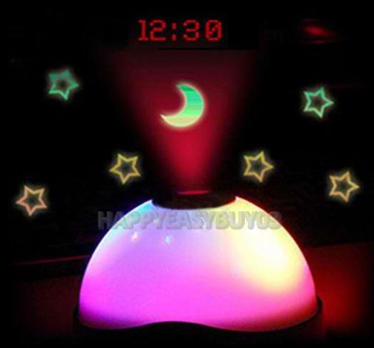 Réveil avec projection de lumière et de l'heure