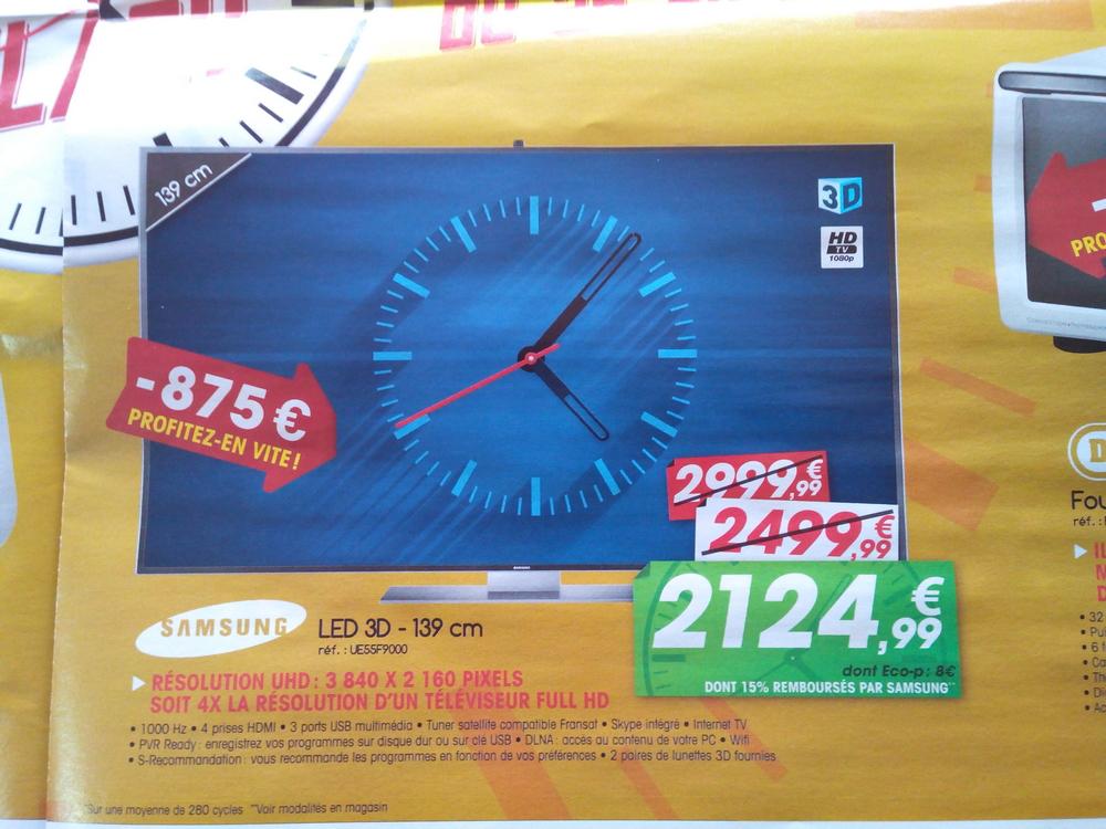 "Télévision 55"" samsung UE55F9000 3D Ultra HD (avec ODR 15%)"