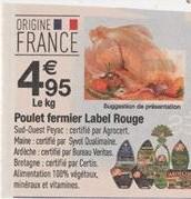 Poulet fermier Label Rouge - Le Kg