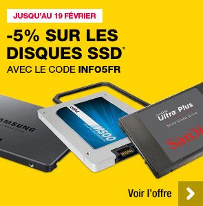 -5% sur tous les SSD jusqu'à mercredi