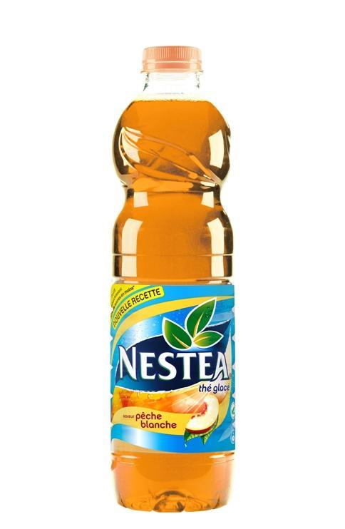 2 bouteilles de Nestea 1,5L pêche blanche/citron/mangue-ananas