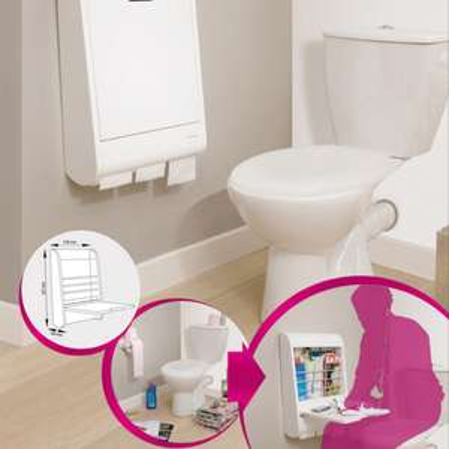Meuble multifonction WC Blanc C-TOL