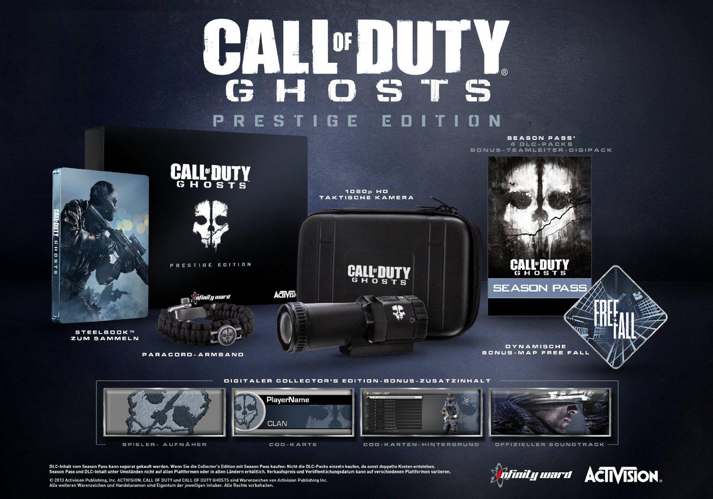 Call of Duty Ghosts - Edition Prestige (Avec caméra 1080p...) sur XBOX 360