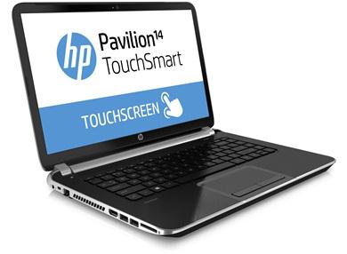 """Ultrabook tactile 14"""" HP Pavilion TouchSmart 14-N090SF + Souris sans fil HP X4500 (avec ODR 100€)"""