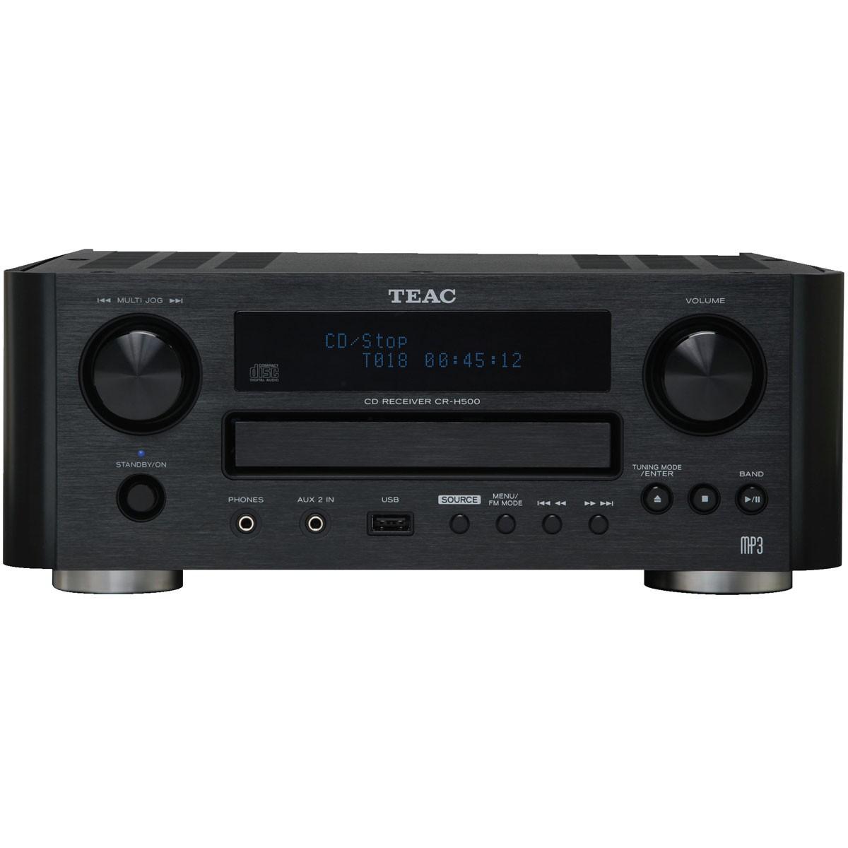 Chaîne hi-fi compacte TEAC CR-H500 avec CD, tuner, et interface USB/Apple