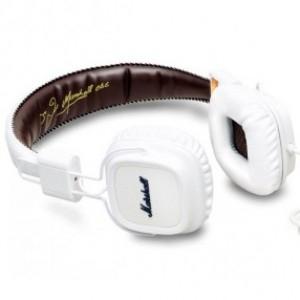 Casque stéréo Marshall Major avec Télécommande + microphone intégré noir ou blanc