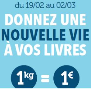 Cultura reprend vos anciens livres (1kg = 1€) limité à 5Kg