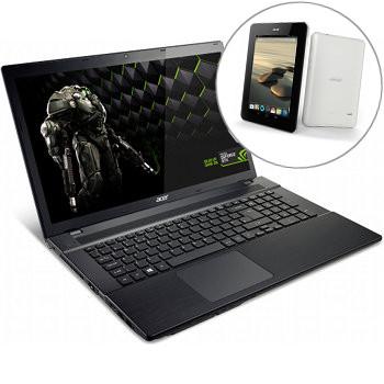 """PC Portable Gamer 17"""" Acer Aspire V3 - GTX760 - 16Go RAM - 1TO + SSD 256 + Tablette Iconia Tab B1-710 - 16 Go (Avec ODR de 150€)"""