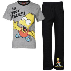 Pyjama enfant Simpsons - Noir/gris (Tailles : 3 à 13 ans)