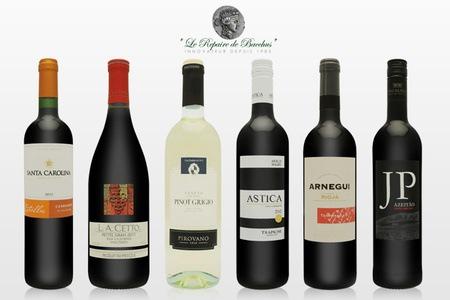 Un coffret de 6 bouteilles de vins du monde