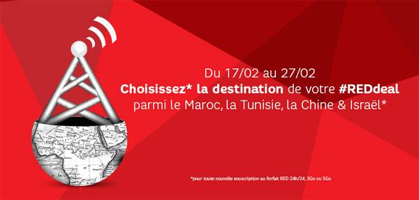 Forfait SFR RED + Appels illimités vers fixes d'une destination au choix