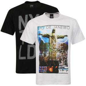 2 T-shirts Cotton Soul - Noir/Blanc ( M uniquement )