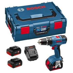 Perceuse Bosch GSB 18-2-LI L-Boxx 18V + 2x Batteries 3Ah Li-Ion
