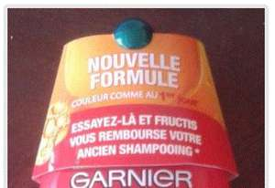 Shampoing Color resist Fructis 100% remboursé (+ produit de la gamme nutri repair satisfait ou remboursé)