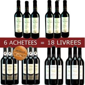 Lot de 18 bouteilles de vins du Languedoc