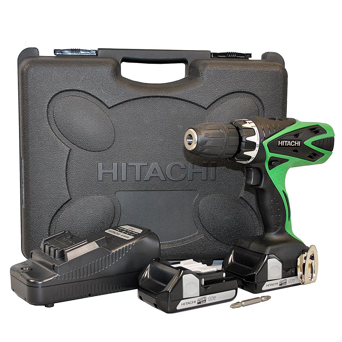 Perceuse sans fil Hitachi DV18DSFL/JC 18V 1.5Ah Li-lon 2 Batteries (Port offert : voir détail)