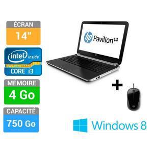 """PC Portable 14"""" HP Pavilion 14-n040ef + souris optique HP (Avec ODR de 50€ + 25% en bon d'achat)"""