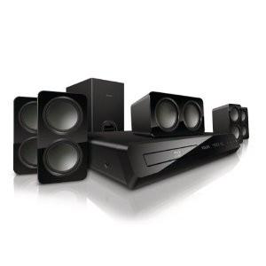 Home cinéma Blu-ray 3D 5.1 Philips HTS3563 600 W + 2 blu-ray offert parmi une liste
