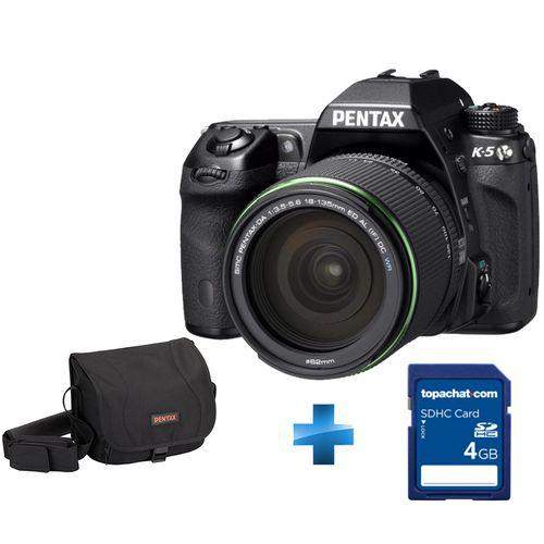 Reflex Pentax K-5 II + Objectif 18-55 mm + Housse + Carte SDHC 4 Go