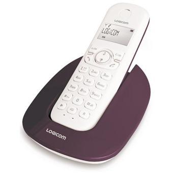 Téléphone fixe Logicom Manta 150 - Aubergine