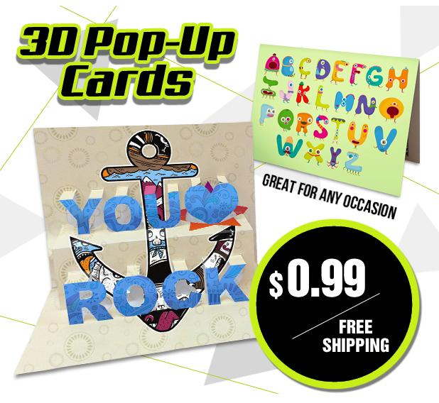Carte postale en 3D