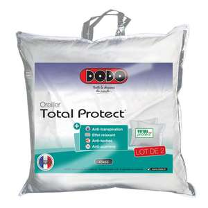 Lot de 2 oreillers Dodo Total Protect 65x65cm
