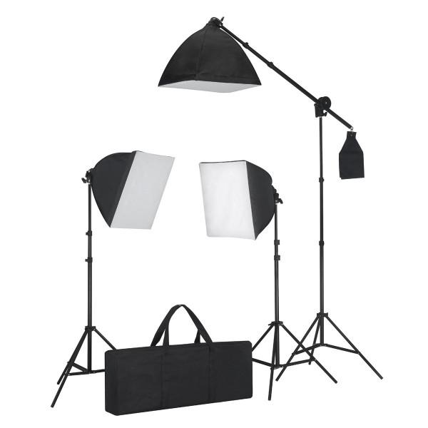 Kit éclairage studio 3 lampes + sofbox + trépieds