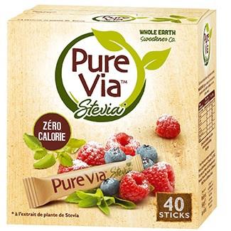 Boîte 40 sticks pure via stevia