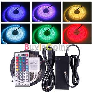 Kit Ruban LED RGB flexible 5M SMD 5050  + télécommande