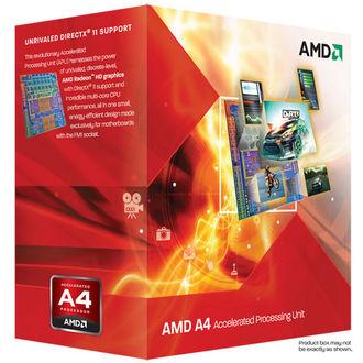 Processeur AMD APU A4 X2 3300 Socket FM1 2.5GHz L2 1Mo boite 65W