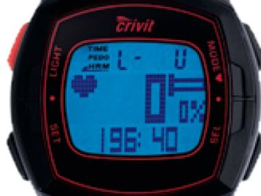 Montre Cardio-fréquencemètre (podomètre et chronomètre) Crivit Sports