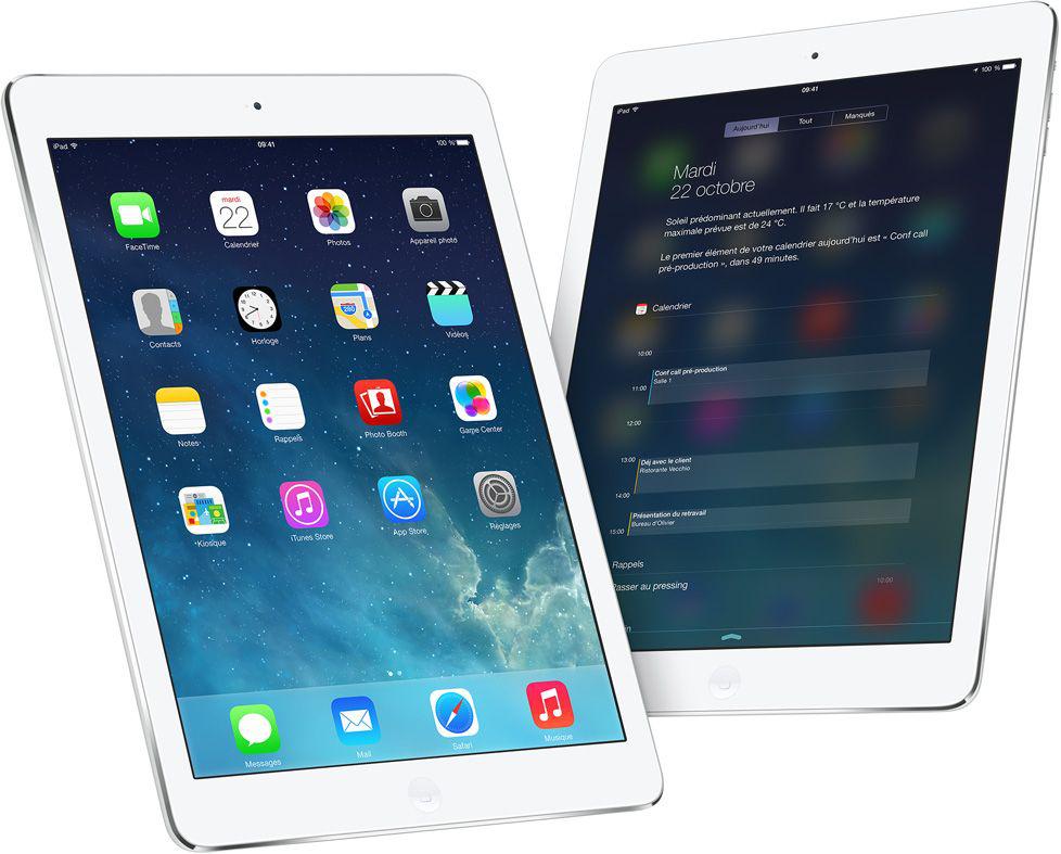 """Apple iPad Air 16 Go Wi-Fi argenté 9.7"""" IPS ( 2048 x 1536 )"""