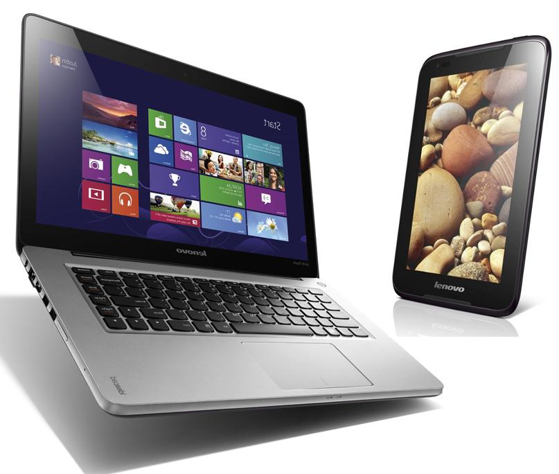 """PC Portable Tactile 13.3"""" Lenovo IdeaPad U310 i3 + Tablette 7"""" Lenovo A1000 Dual-Core"""