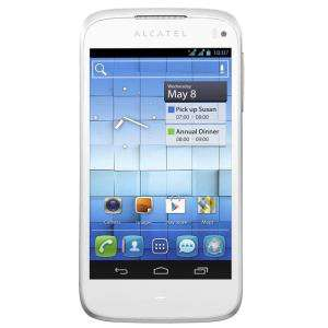 Smartphone Alcatel One Touch 997D Blanc - Double SIM - Android 4.0
