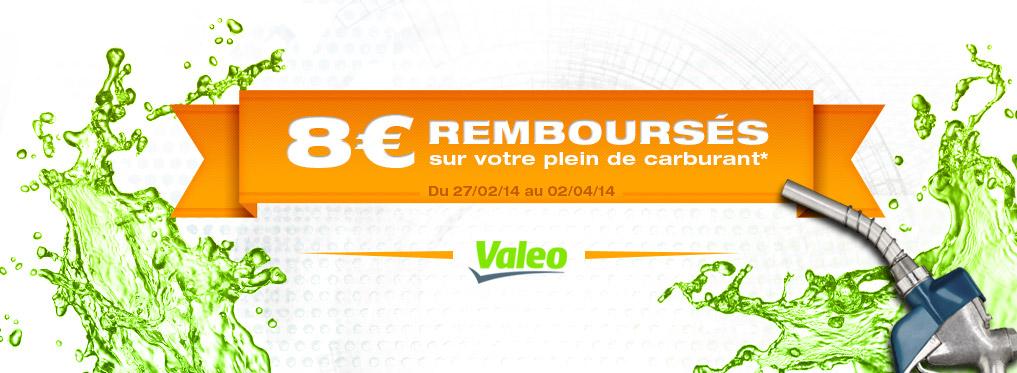 ODR : 8€ remboursé sur votre plein de carburant pour tout produit Valeo acheté