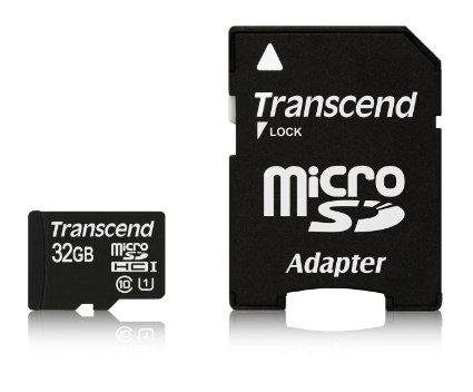 Carte mémoire MicroSDHC Transcend - Classe 10 UHS-I 300x 32 Go