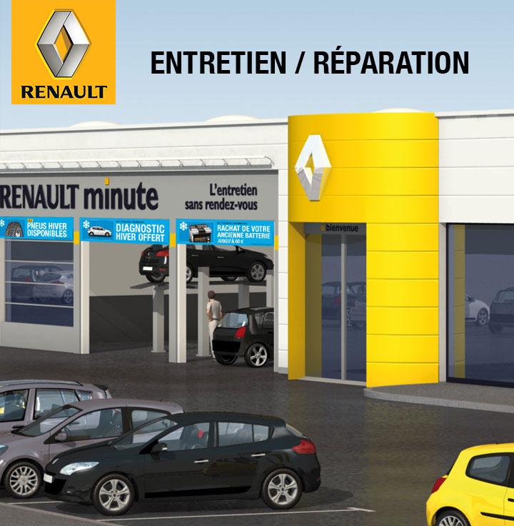 20€ remboursés dès 100€ dépensés pour l'entretien ou la réparation d'une Renault ou Dacia