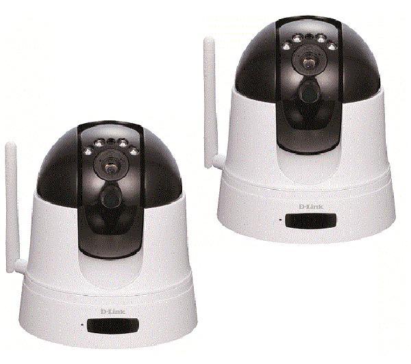 Lot de 2 caméras IP motorisée D-Link  mydlink DCS-5222L - WiFi-N - jour/nuit