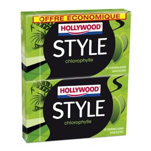 2 lots de 2 paquets de Chewing-Gums Hollywood Style