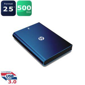 Disque dur portable HP 500Go USB 3.0 Bleu