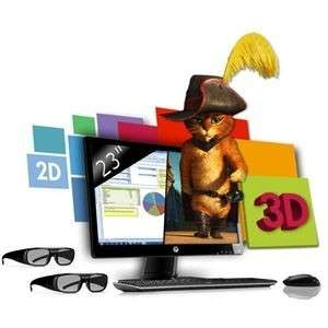 "Moniteur 3D (23"") HP 2311gt"