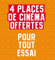 4 places de cinéma offertes pour l'essai d'un véhicule
