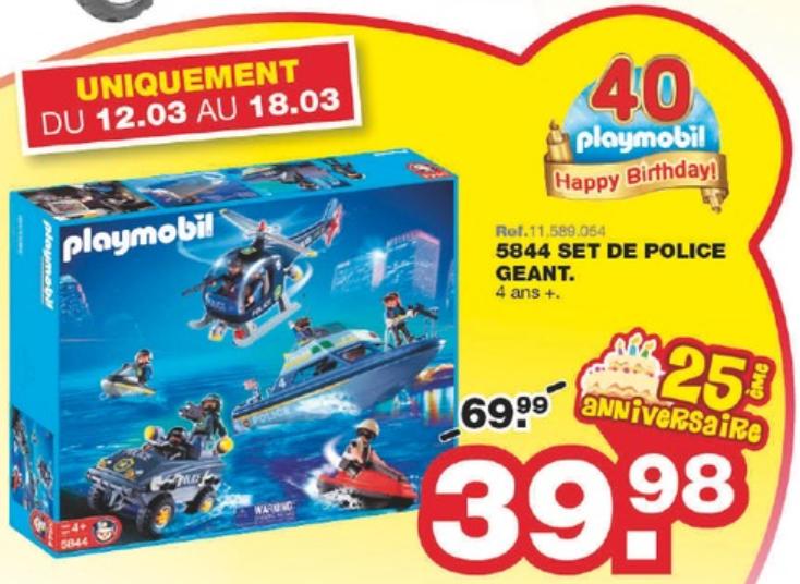 Set de police géant Playmobil