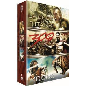 Coffret 3 DVD Le Choc des titans + 300 + 10000