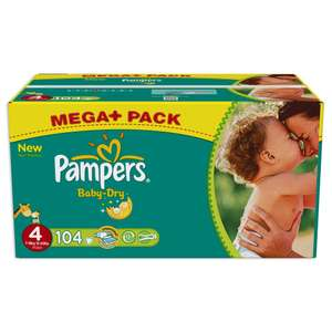 Couches Pampers Baby-Dry Mega-Pack différentes tailles