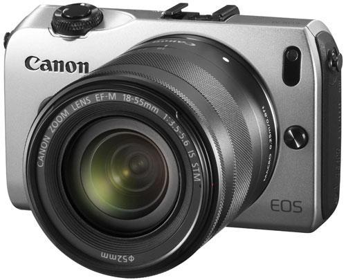 Appareil photo Hybride Canon EOS M Argent + Obj. EF-M IS STM 18 - 55 mm f/3.5 - 5.6